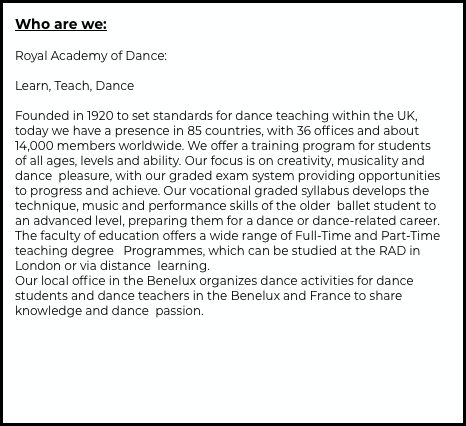 Who are we: